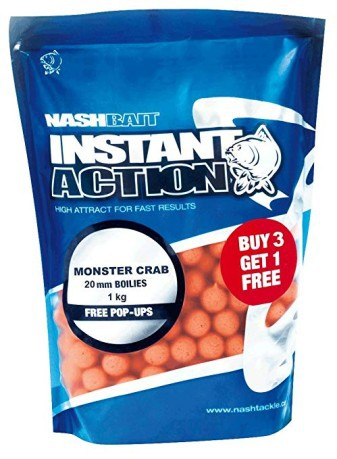 Boilies Instant Action Monster Crab and Crayfish 15mm 3X2