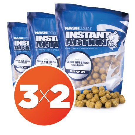 Boilies Instant Action Candy Nut Crush 15mm 3X2