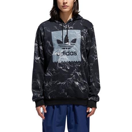 07782db6b334 Herren sweatshirt Marble AOP Hoodie colore schwarz weiß - Adidas ...