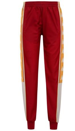 Donna 10 Pantaloni Tuta Banda Kappa Oro Rosso Colore 757tq