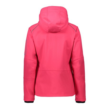 Giacca Trekking Donna Softshell rosa fronte