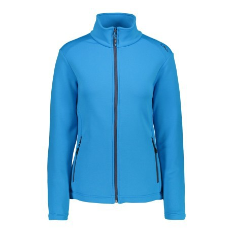 Fleece Trekking Woman Stretch blue