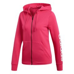 Felpa Donna Con Cappuccio Essentials Linear Full Zip fronte
