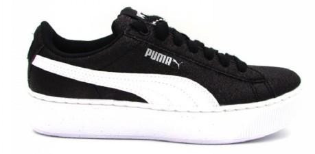 Puma Bambina Nero Scarpe Colore Glitz Vikky Platform zFFgBwq