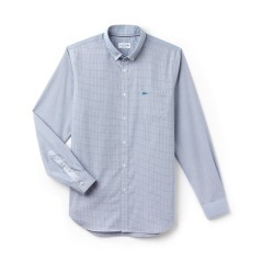 Man Shirt In Mini Gingham Check