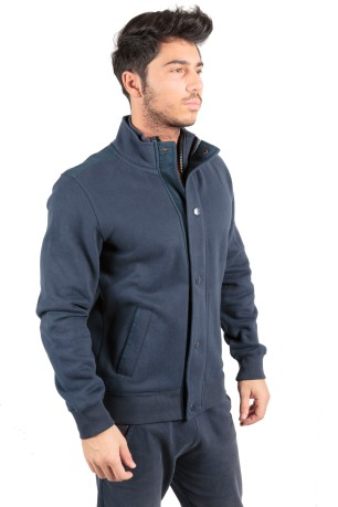 Felpa Uomo All America Full Zip blu