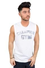 T-shirt Uomo Gymnasium Smanicata blu