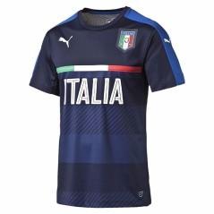 Maglia Calcio Uomo Figc Italia Training Jersey azzurro blu