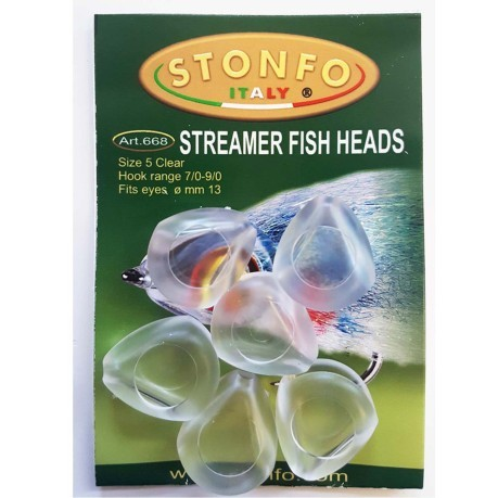 Streamer Fish Heads 1/2