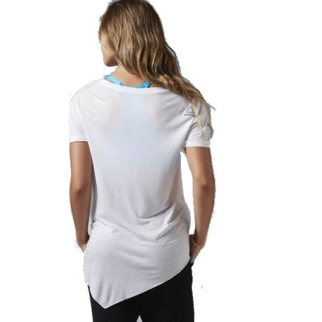T-shirt Donna Dance Asymmetric bianco nero