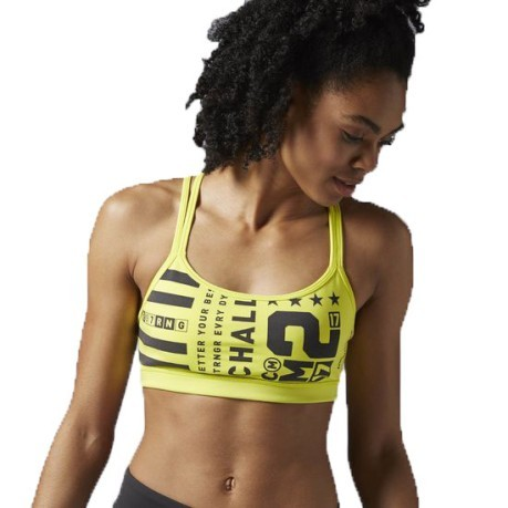 Top Donna One Series Hero Strenght 2.0 giallo