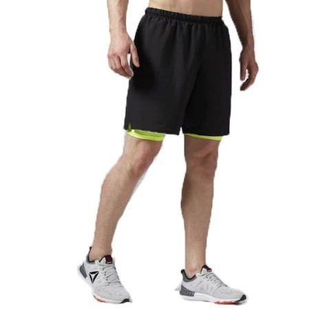 Short Uomo One Series Running 2 in 1 nero