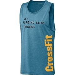 Canotta Uomo CrossFit Burnout azzurro