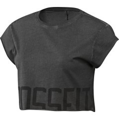 T-Shirt Donna CrossFit Washed Crop